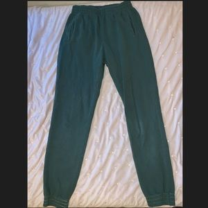 Brandy Melville/John Galt emerald green sweatpants